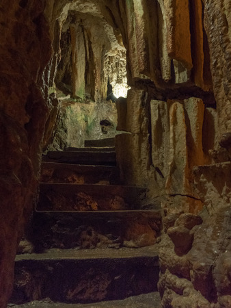 Inside the Nettuno cave in Sardinia
