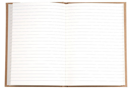 Blank page of note book  photo