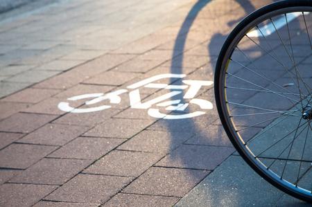 wheel at cycle lane