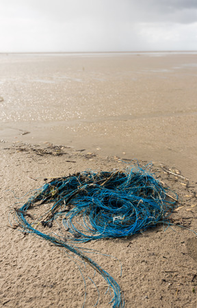 fishnet on the beach