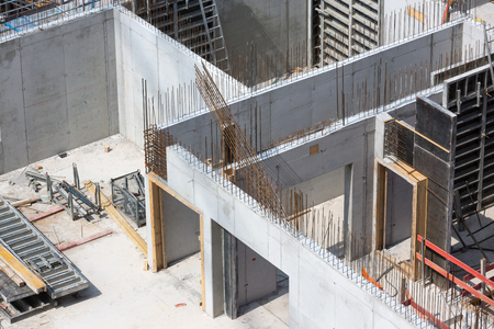 in-site concrete walls Banque d'images