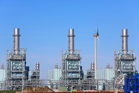 centrale à gaz à Eemshaven Banque d'images