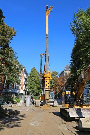 drilling rig for sewer modernization