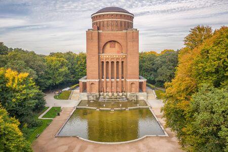 Aerial view of Planetarium in Hamburg Zdjęcie Seryjne
