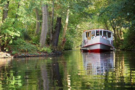 Alster boat trip in Hamburg Zdjęcie Seryjne
