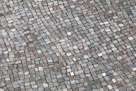 Texture of gray cobblestones