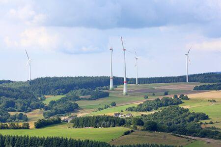 Wind farm in rural landscape