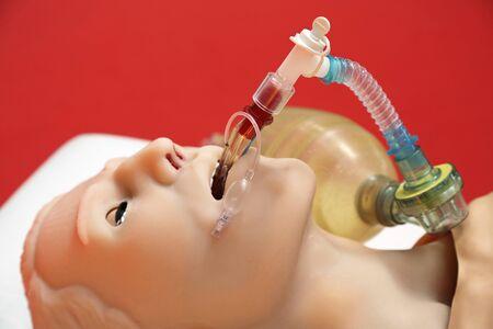 Artificial ventilation on patient simulator