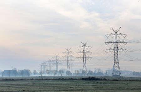 high voltage power line in Germany Standard-Bild