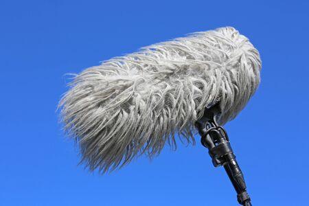 Shotgun microphone with windshield Zdjęcie Seryjne