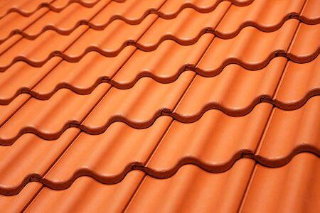 Texture of orange roof tiles