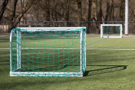 Small goals for football training Zdjęcie Seryjne