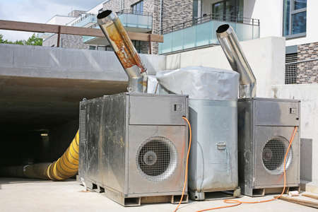 drying of a new building with machines