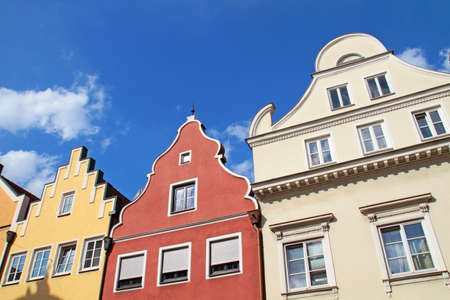 Colored gable houses in Bavaria