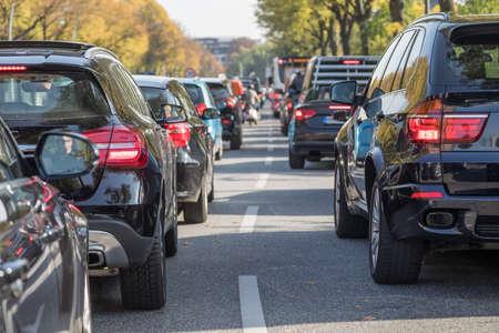 traffic jam with SUV in Hamburg