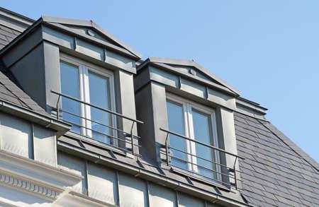 pair of gable dormer on rooftop Zdjęcie Seryjne