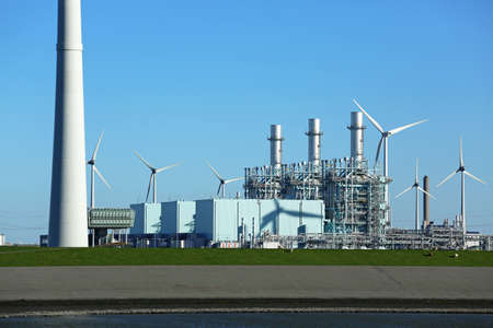 gas fired power plant in the Netherlands Stock Photo