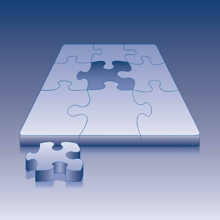 An illustration of a last puzzle piece ready to be placed into the puzzle Stock Vector - 9934531