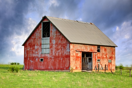 Old abandoned barn.