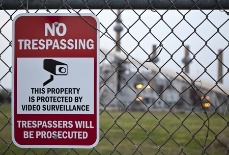 trespassing: No Trespassing Sign Stock Photo