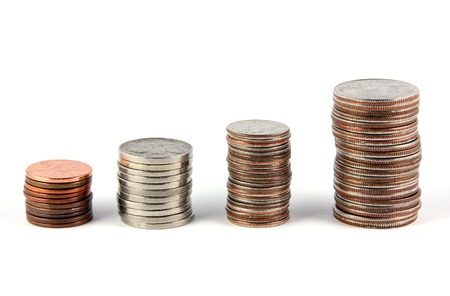 nickle: U.S. coin stacks