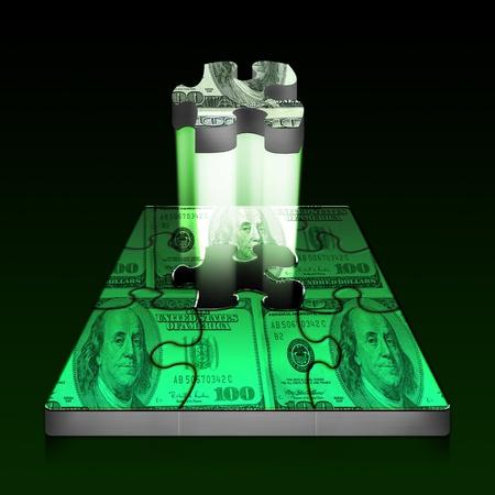 Money puzzle  Reklamní fotografie
