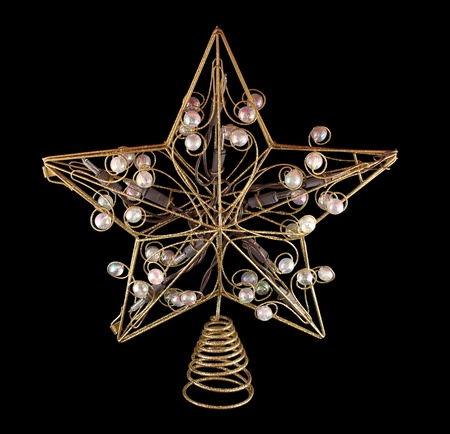 haut de forme: Holiday tree topper Banque d'images