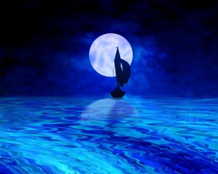 Twilight sailing photo