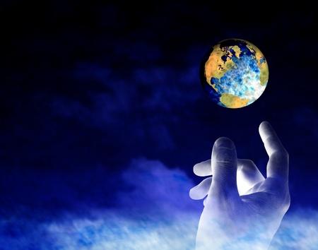 mano de dios: Creación Foto de archivo