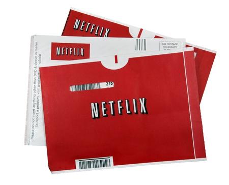 Een studio-opname van 3 Netflix film mouwen. Netflix is 's werelds grootste internet abonnementsdienst voor films en tv-shows.