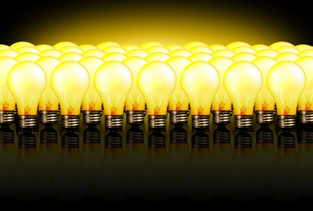 powerful creativity: Army of idea lightulbs