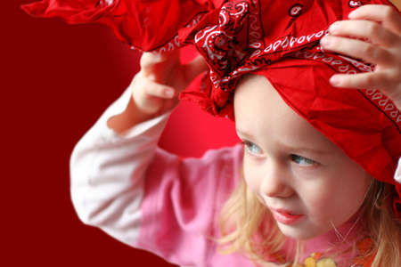 Girl in pink and red Stock Photo - 367424