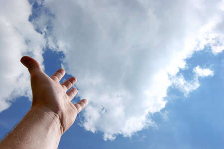 supplication: Hand up to the sky