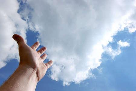 arracher: Main vers le ciel