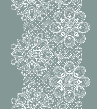 white flower: Vector Old Lace Seamless Pattern, ornamental flowers