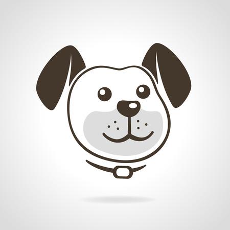 dog head: Smiling dog head icon vector illustration Illustration