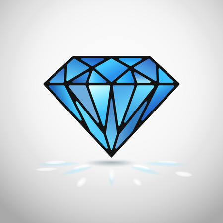 Abstract diamond icon or symbol vector illustration Vector