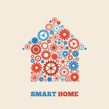 Smart home technology concept symbol vector illustration Illustration