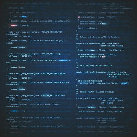 algorithm: Software engineering technology background concept vector illustration Illustration