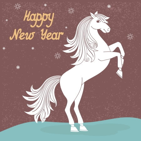 Prancing year of horse vector illustration Vector