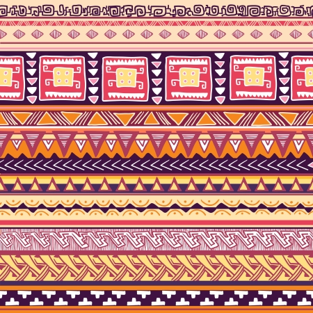 Seamless tribal pattern vector illustration Vector