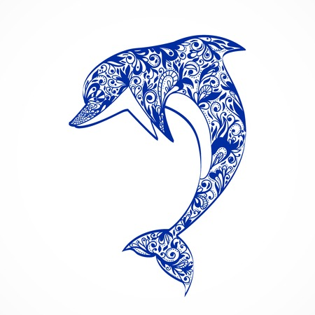 Dolphin symbol isolated vector illustration Vector