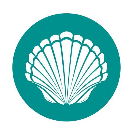 conchas: Concha de mar concha de peregrino simbolo vector