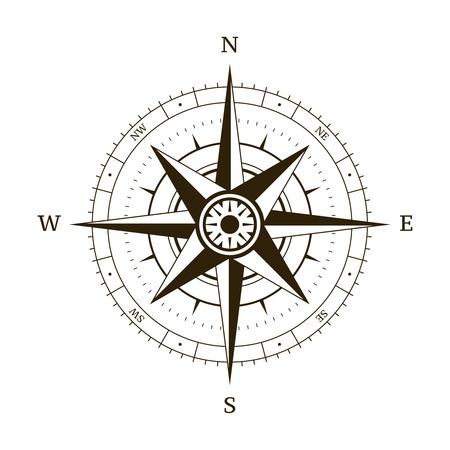 rose blanche: Navigation boussole rose des vents illustration vectorielle
