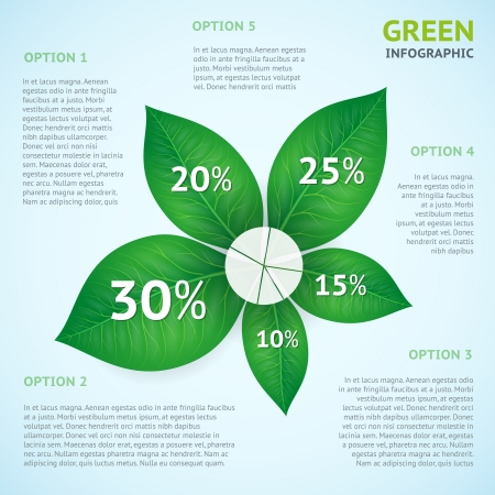 infomation: Eco green infographics concept poster vector illustration