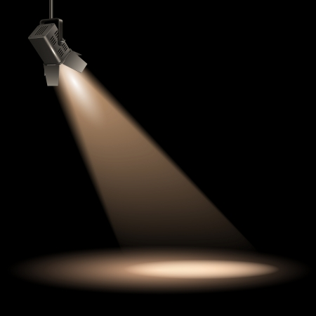 Stage lighting spot vector illustration
