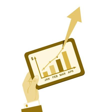cash flow statement: Vintage financial business plan report symbol vector illustration Illustration