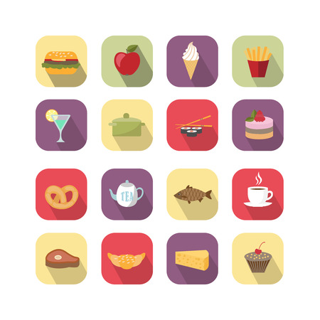 ice pack: Food design elements collection vector illustration isolated