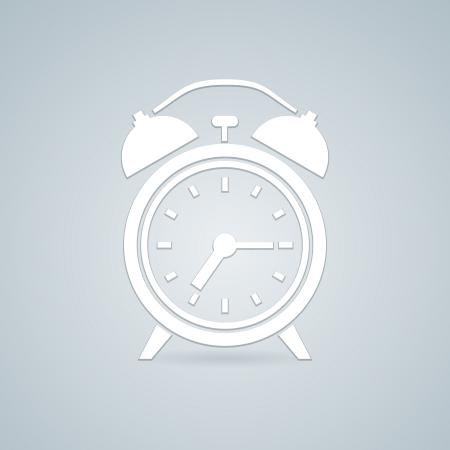 alam: Alarm simple clock vector illustration