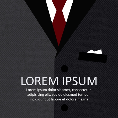 formal shirt: Business suit with a tie illustration